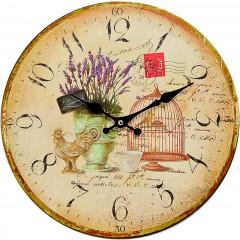 Mi Casa klok Lavendel Bird 20451