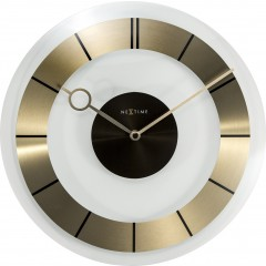 Nextime klok Retro Glass 31 Gold 2790GO