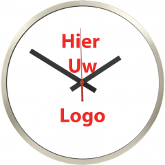 Logo op klok 40cm rand RVS
