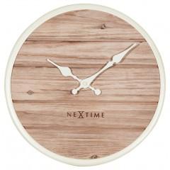 Nextime klok Plank Wood 30 White 3133WI