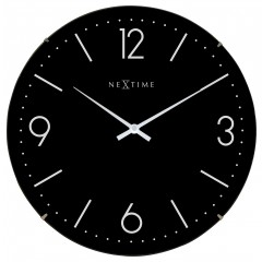 Nextime klok Basic Dome Glass 35 Black 3157ZW