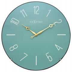 Nextime klok Trendy Dome Glass 35 Turquoise 3158TQ