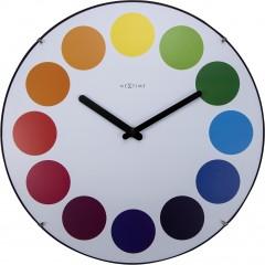 Nextime klok Dots Dome Glass 35 Multicolor 3166