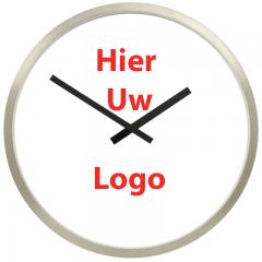 Logo op klok 50cm RVS rand