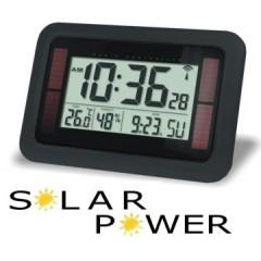 Radiocontrol klok Solar zwart