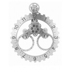 Invotis day month wheel clock black
