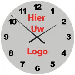 Logo op klok 60cm Aluminium cijfers 2