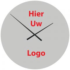 Logo op klok 60cm Aluminium